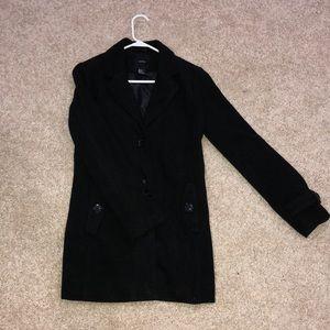 Forever 21 Jackets & Coats - Forever 21 Black Peacoat